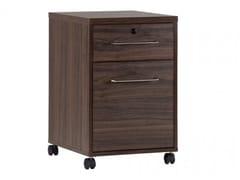 Cassettiera ufficio in legno con ruotePLATINUM | Cassettiera ufficio - ARREDIORG