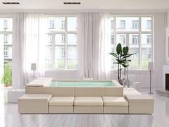 Piscine Laghetto, PLAYA LIVING Minipiscina con riscaldatore e bolle e sedute esterne