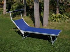 Lettino da giardino pieghevole reclinabile in tessutoPLAYA   Lettino con parasole - FERRITALIA