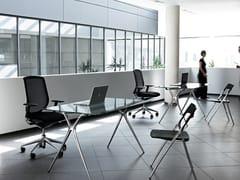 Tavolo pieghevole in alluminio e vetroPLEK | Tavolo pieghevole - ACTIU