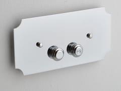 Placca di comando per wc in ottonePLGB01BR | Placca di comando per wc - BLEU PROVENCE