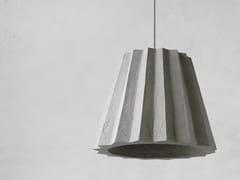 Lampada a sospensione a luce diretta in carta riciclataPLISE - INDI