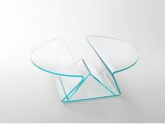 Tavolino basso rotondo in cristalloPLISSE' - GLAS ITALIA
