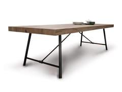 Tavolo rettangolare in legno PLOMBIER | Tavolo - Plombier