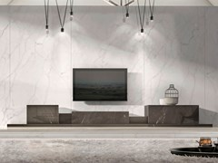 Madia in marmo con cassettiPODIUM GREY KENDZO - TCC WHITESTONE