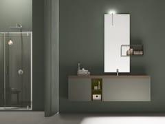 Mobile lavabo singolo in legno e Tecnoril®POLLOCK - COMPOSIZIONE 65 - ARCOM
