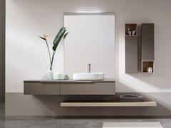 Sistema bagno componibile in legnoPOLLOCK - COMPOSIZIONE 69 - ARCOM