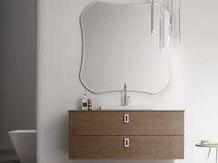 Sistema bagno componibile in legno e vetroPOLLOCK - COMPOSIZIONE 70 - ARCOM