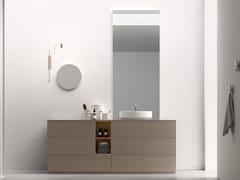 Mobile lavabo da terra in legno con specchioPOLLOCK - COMPOSIZIONE 73 - ARCOM
