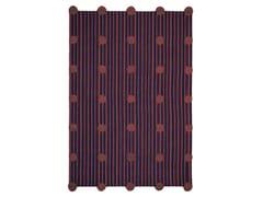 Tappeto fatto a mano rettangolare in cotone in stile moderno a righePOMPON - KARPETA