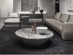 Tavolino rotondo in Baydur® e pietraPOND | Tavolino in pietra - ACERBIS BY MDF ITALIA