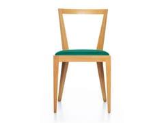 Sedia in faggio con cuscino integrato con schienale apertoPONTI 940 | Sedia con cuscino integrato - BBB