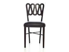 Sedia in pelle con struttura in faggioPONTI 969 | Sedia in pelle - BBB
