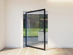 Portapivot, PORTAPIVOT 6530 XL - OFFSET AXIS Porta a bilico in alluminio e vetro