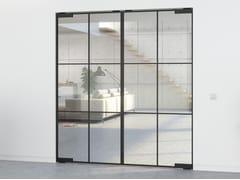 Porta a bilico in alluminio in stile moderno senza telaioPORTAPIVOT MINI-MAX - DOUBLE DOOR - PORTAPIVOT