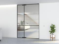 Porta a bilico in alluminio in stile moderno senza telaioPORTAPIVOT MINI-MAX - SINGLE DOOR - PORTAPIVOT