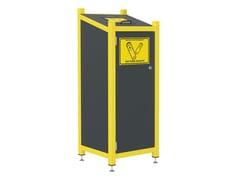 Portarifiuti in lamiera zincata per batterie scarichePORTLAND | Portarifiuti per batterie scariche - LAZZARI SRL