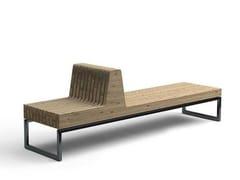 VESTRE, PORTO | Panchina in acciaio e legno  Panchina in acciaio e legno