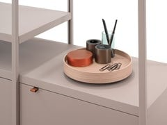 Vassoio portacancelleria in legno con prese e USBPORTS POWER TRAY - BENE
