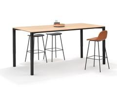 Tavolo da riunione/Scrivania ad altezza regolabile in legnoPORTS TABLE | Tavolo da riunione in legno impiallacciato - BENE