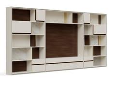Parete attrezzata in legno con porta tv su misuraPR.850.1 - STELLA DEL MOBILE