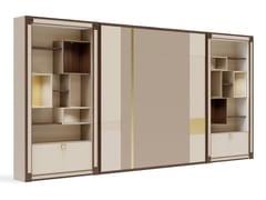 Parete attrezzata in legno con porta tv su misuraPR.854.1 - STELLA DEL MOBILE