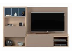 Mobile TV con libreria PREFACE - COMPOSIZIONE H - Preface