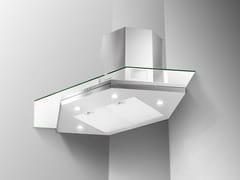 Cappa ad angolo in acciaio inox e vetro con illuminazione integrataPREMIO ANGOLO/SP - FABER