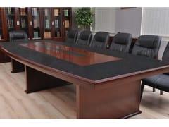 Tavolo da riunione rettangolare in fibra di legnoPRESTIGE | Tavolo da riunione in noce - ARREDIORG