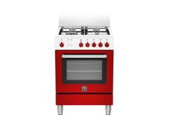 Cucina a libera installazione professionale in acciaio inox in stile modernoPRIMA - RI6 4C 61 C W - BERTAZZONI