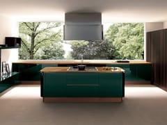 Cucina componibile in marmo con isola PRIMAVERA ELEGANT -