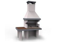 Barbecue a legna in ceramica refrattariaPRIMAVERA XL - EDILMARK