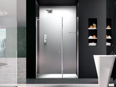 Box doccia a nicchia in vetro con porta a battentePRISMA 1.0 | Box doccia a due posti - MEGIUS