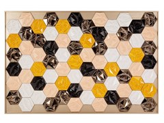 Quadro in ceramicaPRISMA HONEY - THEIA