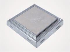 Chiusino a pavimento in acciaio inox o zincatoPRO+MAXI BS - FF SYSTEMS