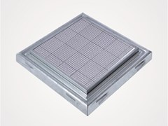 Chiusino a pavimento in acciaio inox o zincatoPRO+MAXI TH - FF SYSTEMS