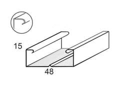 Profilo a C per soffittoPROFILO C 50 X 15 - CIPRIANI PROFILATI