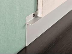 PROGRESS PROFILES, PROSKIRTING INS Battiscopa in alluminio anodizzato argento