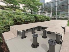 PROGRESS PROFILES, PROSUPPORT TUBE SYSTEM Sistema modulare per pavimento sopraelevato  da esterno
