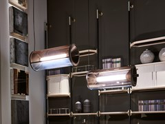 Lampada a sospensione a luce diretta in vetroPROTON TUBE - BAXTER