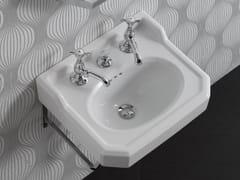 Lavabo singolo sospeso in ceramicaPROVENCE '700 | Lavabo sospeso - BLEU PROVENCE