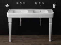 Lavabo a consolle doppio in ceramicaPROVENCE '900   Lavabo a consolle - BLEU PROVENCE