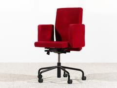 Sedia ufficio girevole in tessuto a 5 razze con braccioliPUB & CLUB - BULO