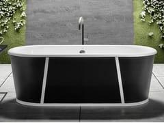 Vasca da bagno centro stanza ovale in ghisaPURE - BLEU PROVENCE