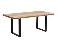 Tavolo da pranzo rettangolare in acacia PURE NATURE | Tavolo in acacia -
