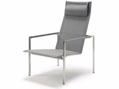 Sedia a sdraio reclinabile con braccioliPURE STAINLESS STEEL | Sedia a sdraio - SOLPURI
