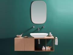 Mobile lavabo sospeso in legno con specchioPURE - PORCELANOSA GRUPO