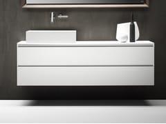 Mobile lavabo laccato sospeso con cassetti PURE | Mobile lavabo sospeso - Pure