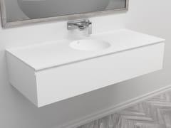 Mobile lavabo singolo sospeso con cassettiPURITY | Mobile lavabo - RILUXA