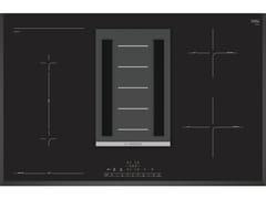Piano cottura a induzione in vetro con cappa integrata classe APVS851F21E | Piano cottura classe A - BSH ELETTRODOMESTICI